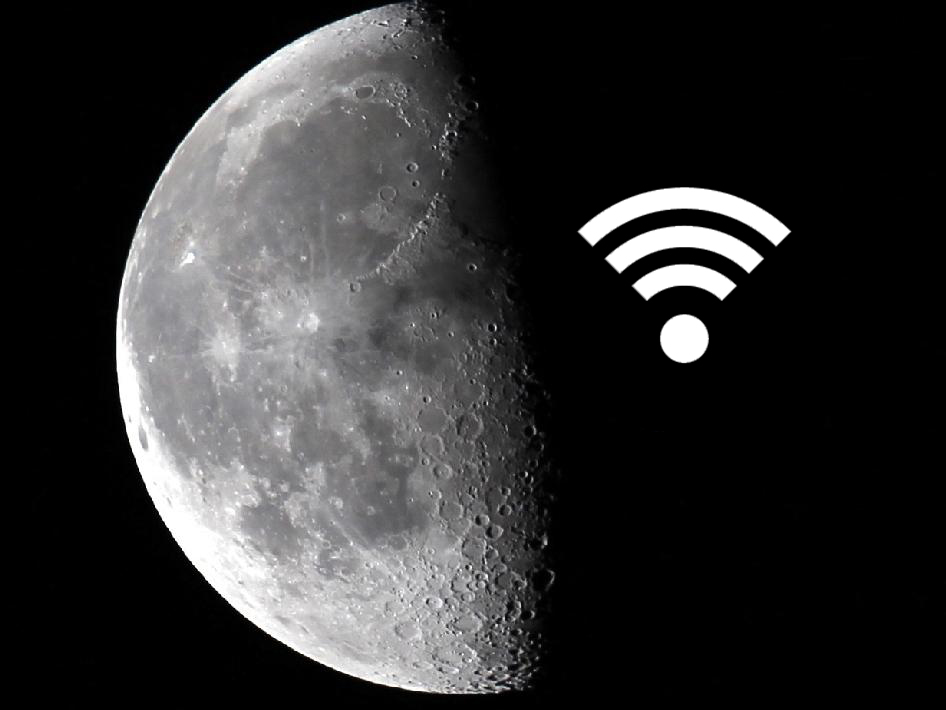 Wi-Fi Hotspot on the Moon