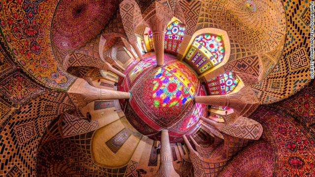 The Pink Mosque, or Nasir al-mulk Mosque,