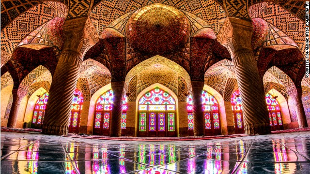 the Nasir al-mulk Mosque, in Shiraz