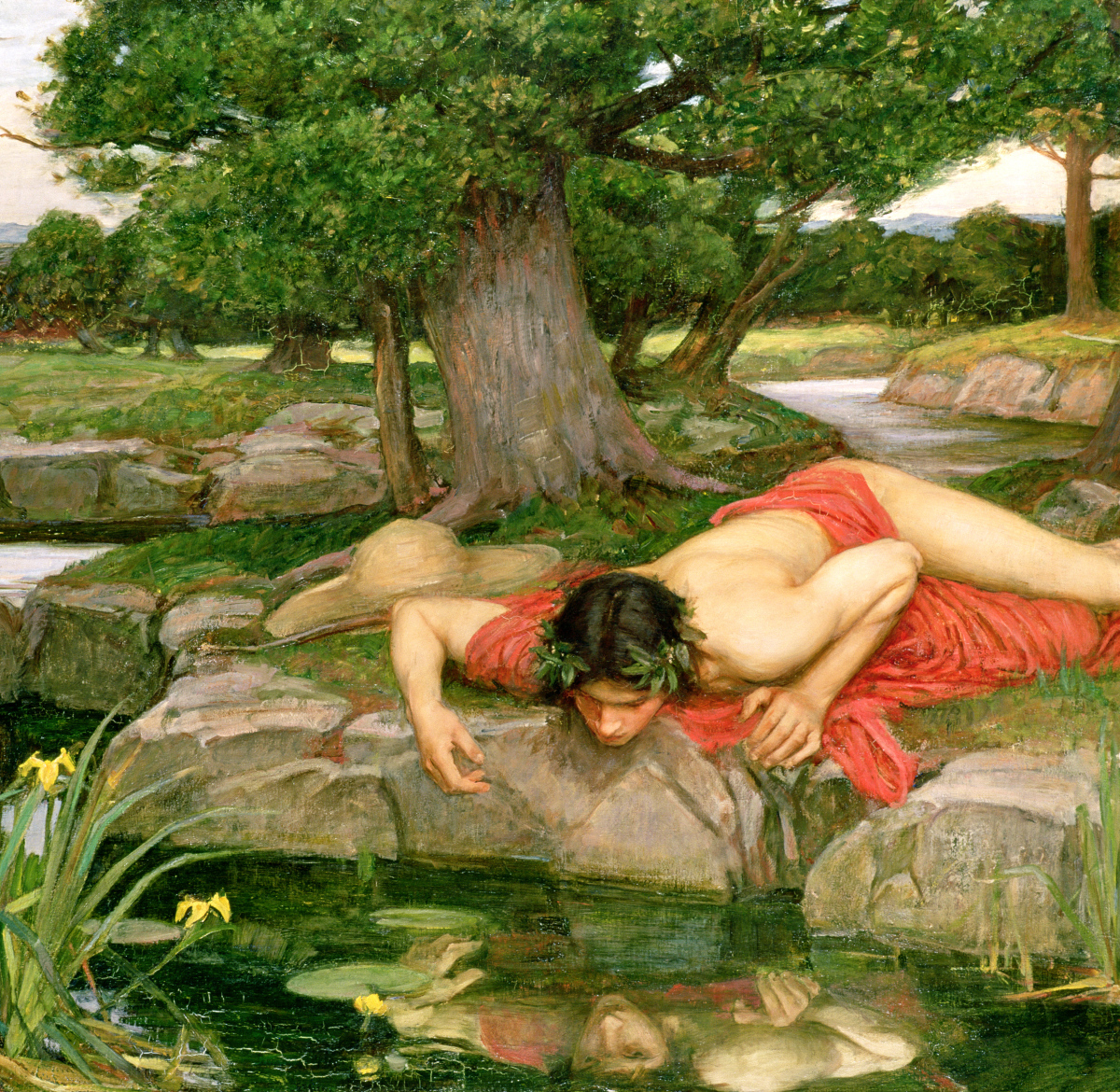 Echo and Narcissus, 1903 (oil on canvas)