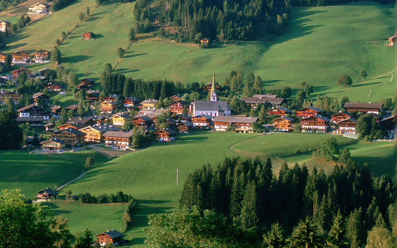 Austrian village of Alpbach