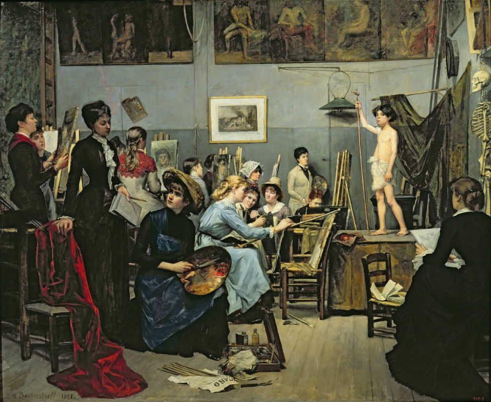 Bashkirtseff, In the Studio